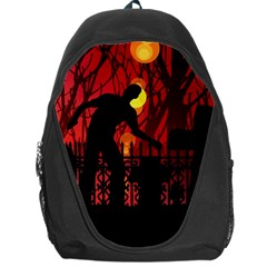 Horror Zombie Ghosts Creepy Backpack Bag by Amaryn4rt