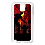 Horror Zombie Ghosts Creepy Samsung Galaxy Note 3 N9005 Case (White) Front