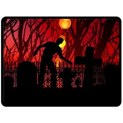 Horror Zombie Ghosts Creepy Double Sided Fleece Blanket (large)  by Amaryn4rt