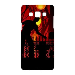 Horror Zombie Ghosts Creepy Samsung Galaxy A5 Hardshell Case  by Amaryn4rt