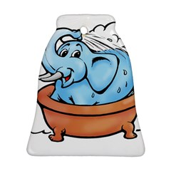 Elephant Bad Shower Bell Ornament (2 Sides) by Amaryn4rt