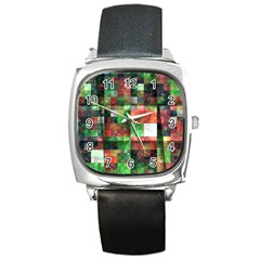 Paper Background Color Graphics Square Metal Watch by Amaryn4rt