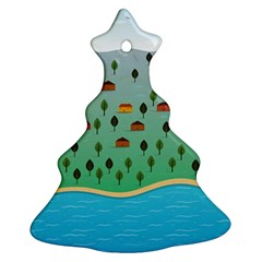 Rural Scenery Christmas Tree Ornament (2 Sides)