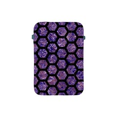 Hexagon2 Black Marble & Purple Marble (r) Apple Ipad Mini Protective Soft Case by trendistuff