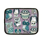 Seamless Owl Pattern Purple Netbook Case (Small)  Front