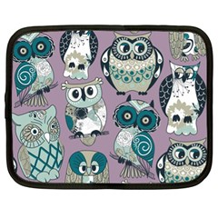 Seamless Owl Pattern Purple Netbook Case (xl)