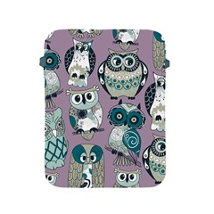 Seamless Owl Pattern Purple Apple Ipad 2/3/4 Protective Soft Cases