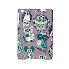 Seamless Owl Pattern Purple Ipad Mini 2 Hardshell Cases by AnjaniArt