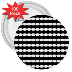 Silhouette Overlay Oval 3  Buttons (100 Pack)