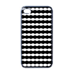 Silhouette Overlay Oval Apple Iphone 4 Case (black)