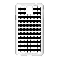Silhouette Overlay Oval Samsung Galaxy Note 3 N9005 Case (white)