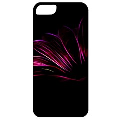 Purple Flower Pattern Design Abstract Background Apple Iphone 5 Classic Hardshell Case by Amaryn4rt