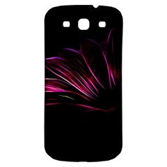 Purple Flower Pattern Design Abstract Background Samsung Galaxy S3 S Iii Classic Hardshell Back Case by Amaryn4rt