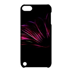 Purple Flower Pattern Design Abstract Background Apple Ipod Touch 5 Hardshell Case With Stand by Amaryn4rt