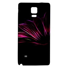 Purple Flower Pattern Design Abstract Background Galaxy Note 4 Back Case by Amaryn4rt