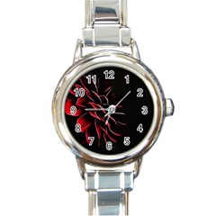 Pattern Design Abstract Background Round Italian Charm Watch
