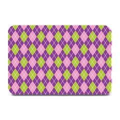 Purple Green Argyle Background Plate Mats by AnjaniArt