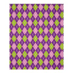 Purple Green Argyle Background Shower Curtain 60  X 72  (medium)  by AnjaniArt
