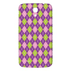 Purple Green Argyle Background Samsung Galaxy Mega I9200 Hardshell Back Case