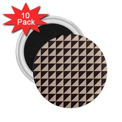 Brown Triangles Background Pattern  2 25  Magnets (10 Pack)