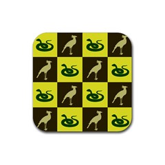 Snake Bird Rubber Square Coaster (4 Pack)  by AnjaniArt