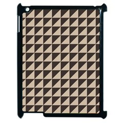 Brown Triangles Background Pattern  Apple Ipad 2 Case (black) by Amaryn4rt