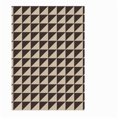 Brown Triangles Background Pattern  Large Garden Flag (two Sides) by Amaryn4rt