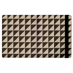 Brown Triangles Background Pattern  Apple Ipad 2 Flip Case by Amaryn4rt