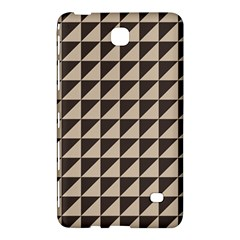 Brown Triangles Background Pattern  Samsung Galaxy Tab 4 (7 ) Hardshell Case  by Amaryn4rt