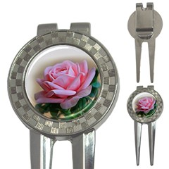 Rose Pink Flowers Pink Saturday 3 In 1 Golf Divots by Amaryn4rt