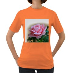 Rose Pink Flowers Pink Saturday Women s Dark T-shirt by Amaryn4rt