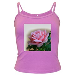 Rose Pink Flowers Pink Saturday Dark Spaghetti Tank