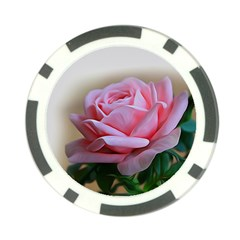 Rose Pink Flowers Pink Saturday Poker Chip Card Guards (10 Pack)