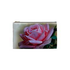 Rose Pink Flowers Pink Saturday Cosmetic Bag (small)  by Amaryn4rt