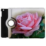 Rose Pink Flowers Pink Saturday Apple iPad Mini Flip 360 Case Front