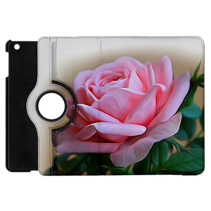 Rose Pink Flowers Pink Saturday Apple iPad Mini Flip 360 Case