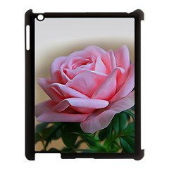 Rose Pink Flowers Pink Saturday Apple Ipad 3/4 Case (black) by Amaryn4rt