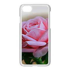 Rose Pink Flowers Pink Saturday Apple Iphone 7 Seamless Case (white) by Amaryn4rt