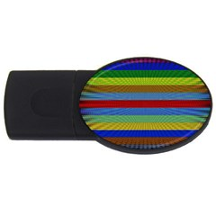 Pattern Background Usb Flash Drive Oval (4 Gb)