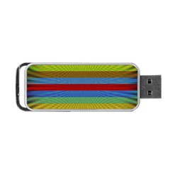 Pattern Background Portable Usb Flash (two Sides) by Amaryn4rt