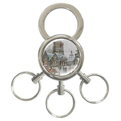 Santa Claus Nicholas 3-ring Key Chains by Amaryn4rt