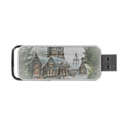 Santa Claus Nicholas Portable Usb Flash (one Side) by Amaryn4rt