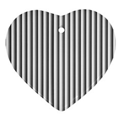 Straight Line Heart Ornament (2 Sides) by AnjaniArt
