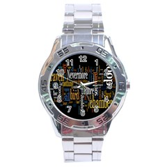 Showing Picture Resolutions Stainless Steel Analogue Watch