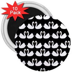 Swan Animals 3  Magnets (10 Pack)