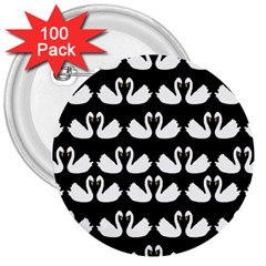 Swan Animals 3  Buttons (100 Pack)  by AnjaniArt