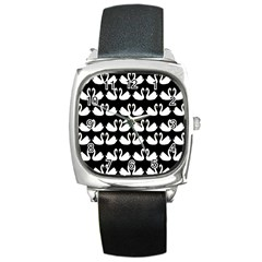 Swan Animals Square Metal Watch