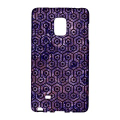 Hexagon1 Black Marble & Purple Marble (r) Samsung Galaxy Note Edge Hardshell Case by trendistuff