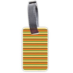 Striped Pictures Luggage Tags (one Side)