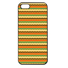 Striped Pictures Apple Iphone 5 Seamless Case (black)